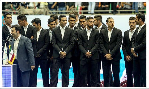 arriving in brazil team melli