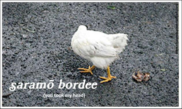 saramo bordee, you took my head