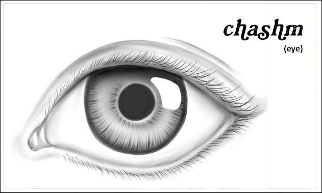 chashm, eye