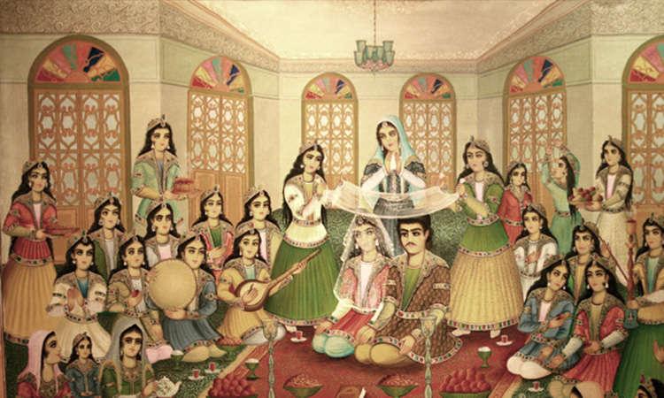 persian wedding aged miniature