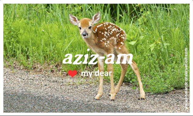 azizam, my dear