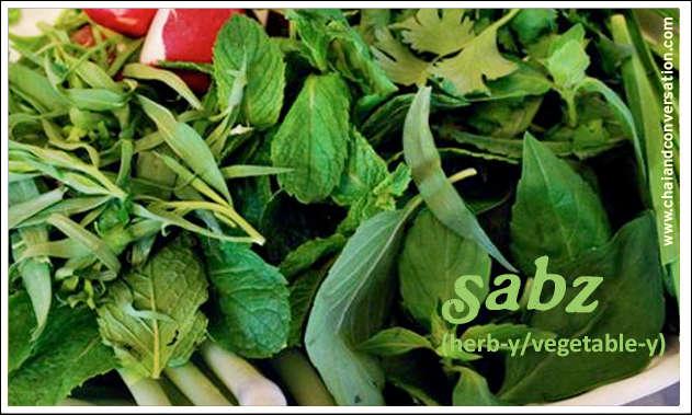sabzee, green
